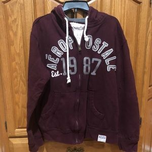 Aeropostale Men's Zip Up Hoodie